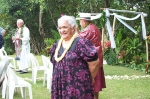 Aunty Moki Campbell at the wedding...  Kipeni>Mokihana