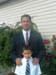 Matthew J. Siufanua with his eight year old son Braydon.  Matt is Mataata Siufanua's third child.*Alamoni>Liva>Mataata>