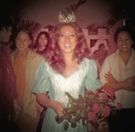 Yolanda (Lueder) Manutai as BYU-H Homecoming Queen in 1976  *Alamoni>Liva>Melita>Yolanda (Landy)