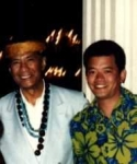 Al Harrington and me (Richard Sami Su'a), at his Waikiki Showroom on my honeymoon in 1991.