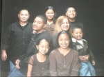 (l-r)Michael, Clinton, Mina, Suva (mother), Pemasa and Jose. Bottom: Selynna and Sariah.