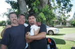 Steve, Woody and Scott (holding son Jackson-Roy)