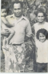 my father Ta'aluava'a Fiso, brother Mission, my mother Iolesina n Me in Samoa about 1975.