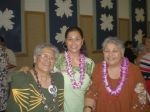 Aunty Taeao Ava Tialavea with niece Mata Lolofie and daughter Anna Tialavea Tiave at Kanani & Sioeli's wedding.